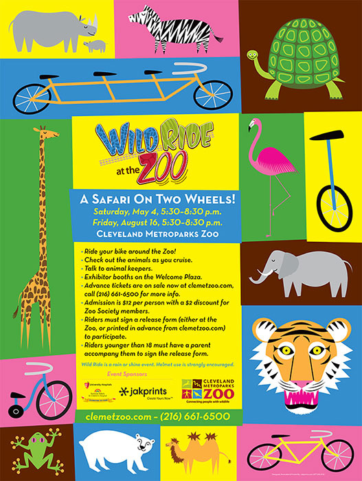 Wild Ride at the Zoo Poster BrandenVondrak